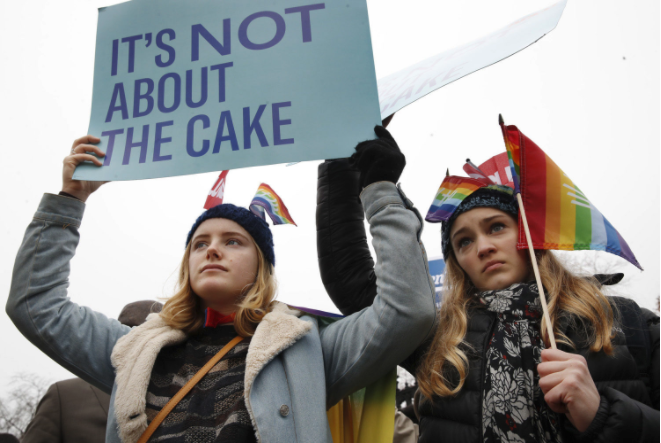 It's Not About Cake protestors