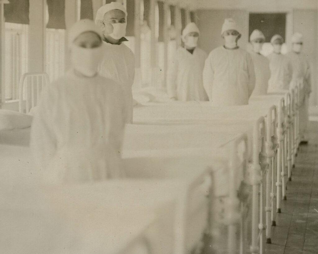 Nurses in hospital for Spanish Flu