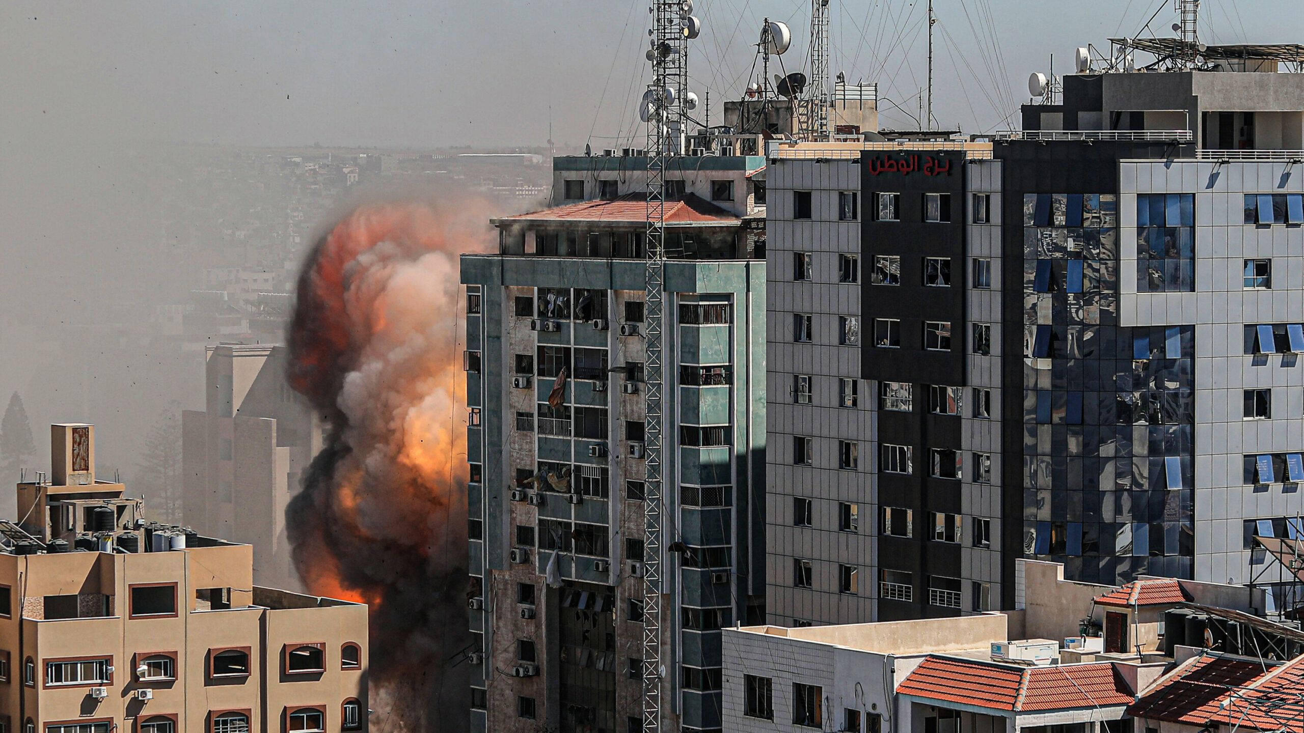 Airstrike attack on building that housed The Associated Press, source: New York Times