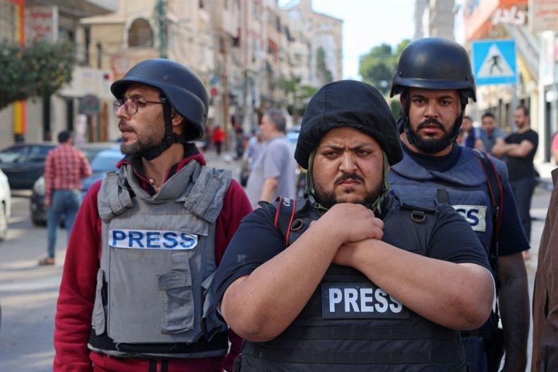 Members of the press in Gaza, source: Newsweek