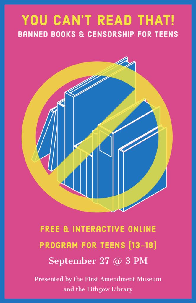 Banned Books Week - Censorship Program for Teens